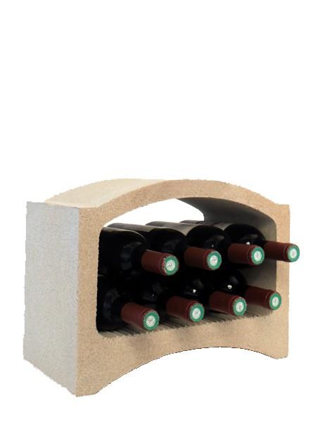 casier bouteilles de vin pierre blanche 8 bouteilles demi. Black Bedroom Furniture Sets. Home Design Ideas