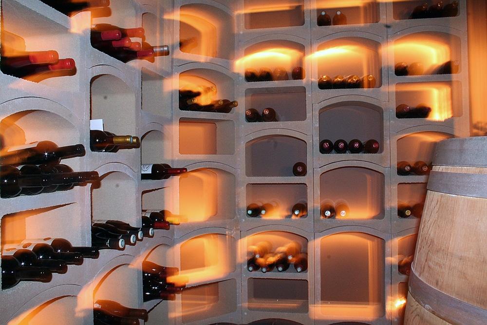 Casiers à bouteilles de vin pierre blanche - Standard