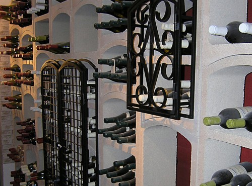 Am nagements de cave vin for Porte en fer pour cave