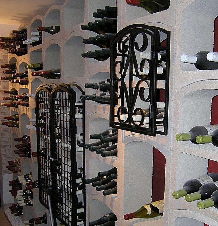 Casier bouteilles de vin pierre blanche 12 bouteilles for Porte de cave en fer